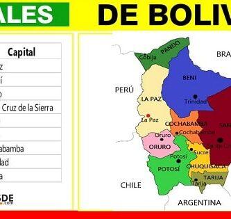 capitales y departamentos de bolivia