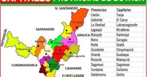 provincias de boyaca y sus capitales