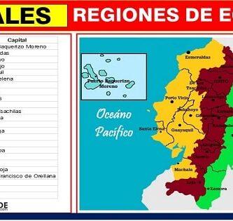 cuantas capitales tienen las regiones del ecuador