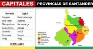 capitales de las provincias de santander