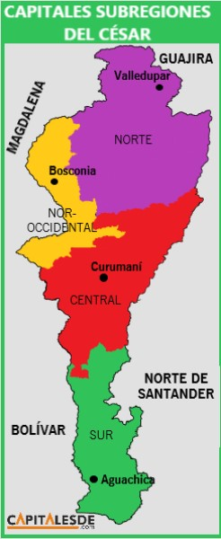 subregiones del cesar