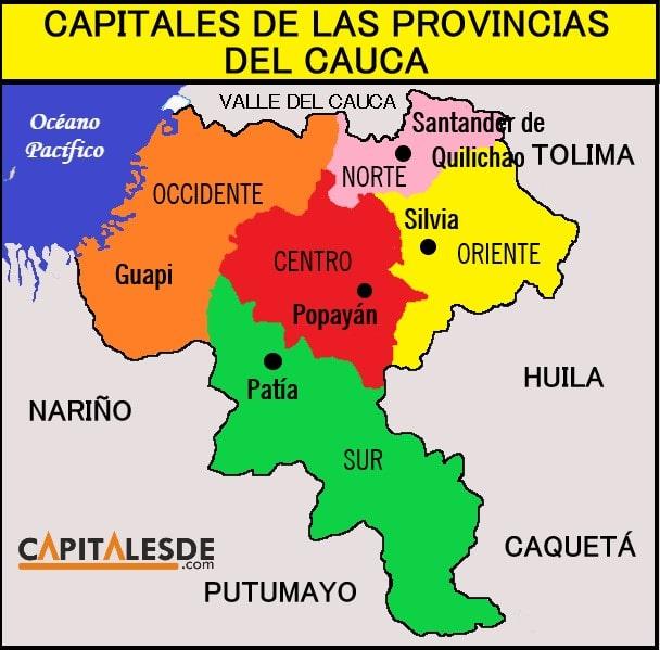 provincias del cauca