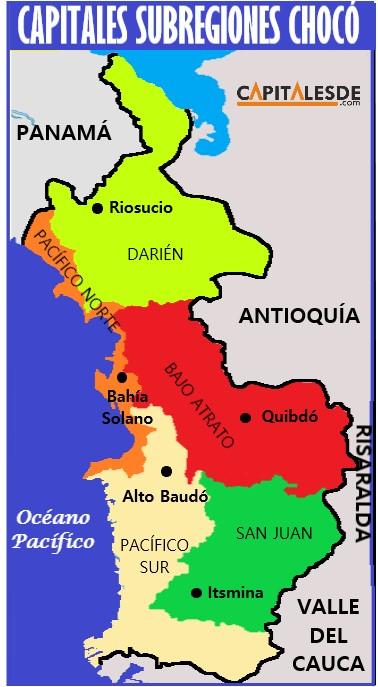 subregiones del choco