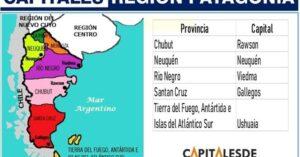 provincias y capitales de la region patagonica