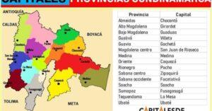 capitales de las provincias de cundinamarca