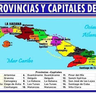 listado de las provincias y capitales de cuba
