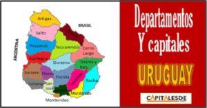 Departamentos y capitales de Uruguay