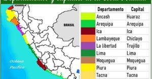 departamentos de la costa peruana y sus capitales