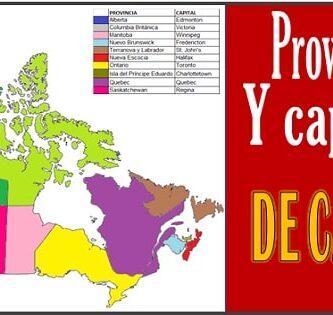 Provincias y capitales de Canada